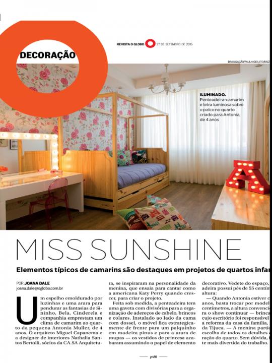 Revista O Globo, setembro de 2015