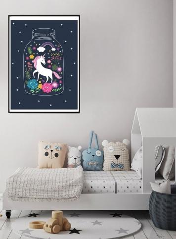 Maria Algodão – poster unicornio
