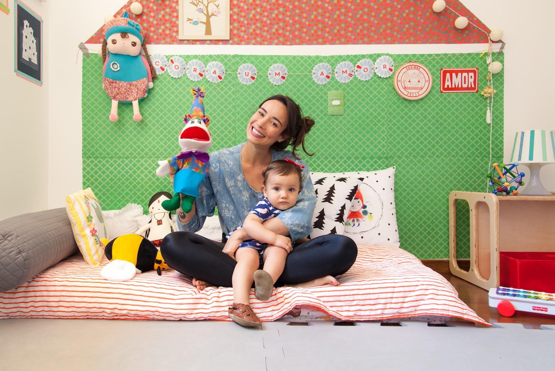 A atriz Flavia Rubim e a decoração montessoriana do quarto de sua filha