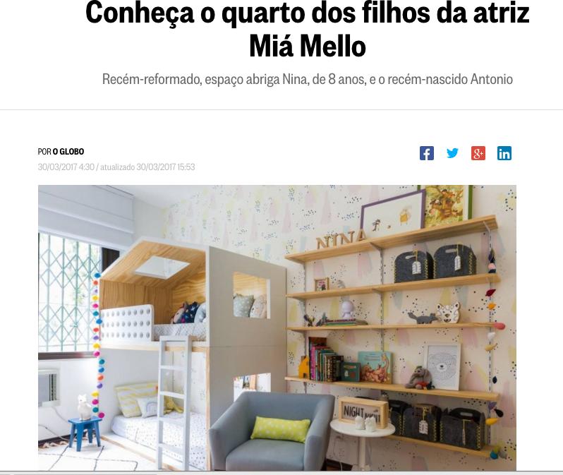 Site Caderno Ela, março de 2017